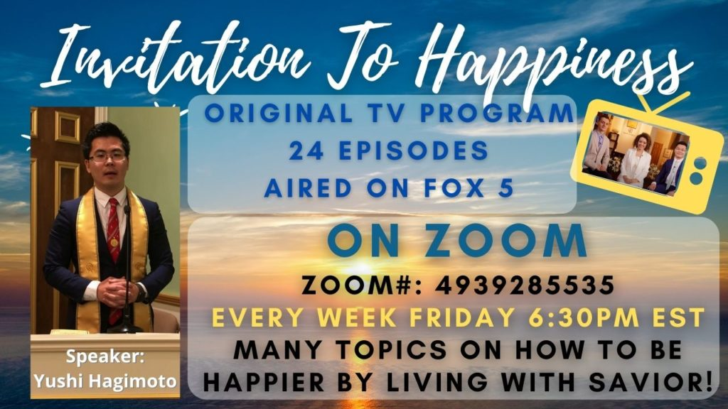 Invitation to Happiness Friday Workshops