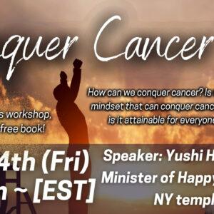 Conquer cancer - weekly happy science seminar series